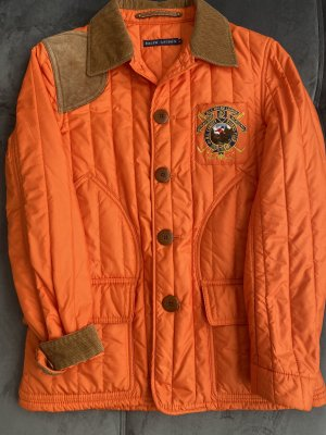 Ralph Lauren Gewatteerd jack oranje-neonoranje