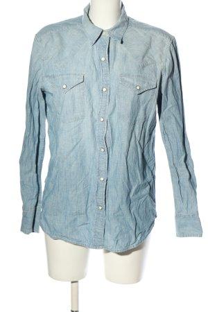 Ralph Lauren Camisa vaquera azul estampado temático look casual