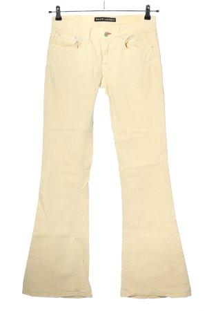Ralph Lauren Jeans a zampa d'elefante crema stile casual