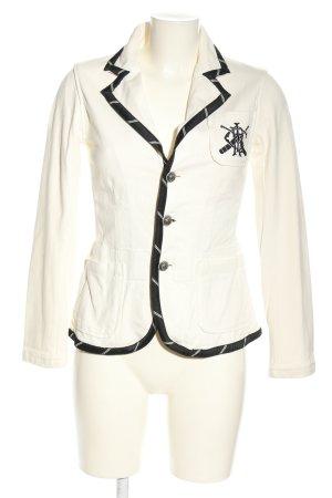 Ralph Lauren Jerseyblazer weiß-schwarz Casual-Look