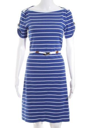 Ralph Lauren Jerseykleid blau-weiß Streifenmuster Metallelemente