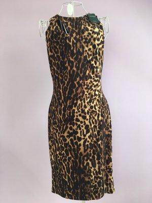 Ralph Lauren Jerseykleid mit Ozelotdruck, neu