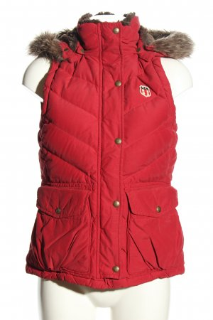 Ralph Lauren Smanicato con cappuccio rosso motivo trapuntato stile casual