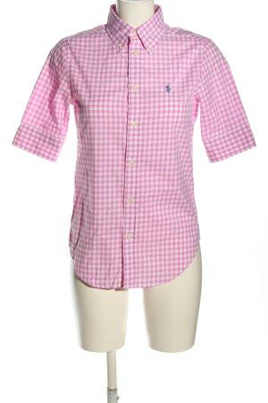 Ralph Lauren Blusa a cuadros blanco-rosa estampado a cuadros look casual