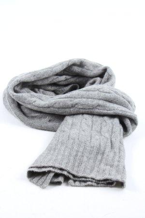 Ralph Lauren Szalik z kaszmiru jasnoszary Warkoczowy wzór W stylu casual
