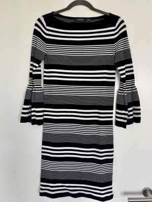 Lauren by Ralph Lauren Vestido de tubo negro-blanco