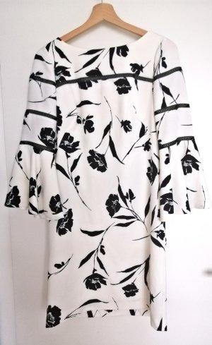 Lauren by Ralph Lauren A Line Dress white-black