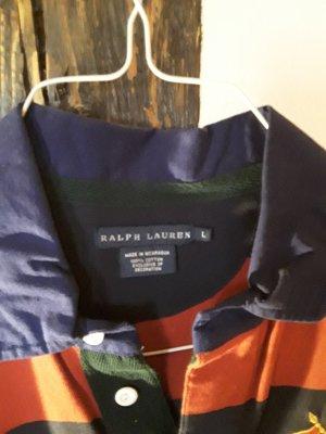 Ralph Lauren Sukienka z długim rękawem ciemnoczerwony-ciemnoniebieski