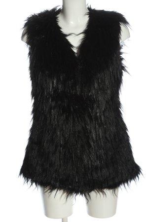 Ralph Lauren Fake Fur Vest black casual look