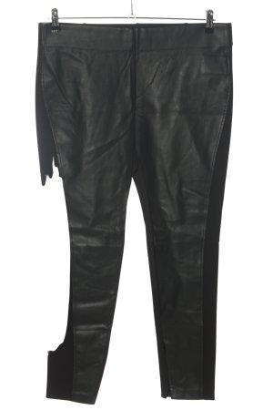 Ralph Lauren Kunstlederhose schwarz Casual-Look