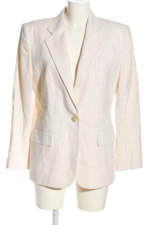Ralph Lauren Kurz-Blazer weiß-blau Streifenmuster Business-Look