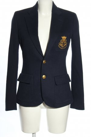 Ralph Lauren Short Blazer blue-gold-colored embroidered lettering business style