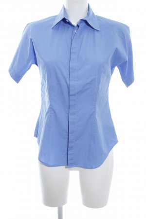 Ralph Lauren Kurzarm-Bluse blau Business-Look