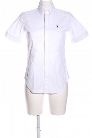 Ralph Lauren Kurzarm-Bluse weiß Business-Look