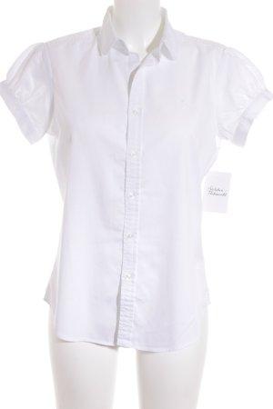 Ralph Lauren Kurzarm-Bluse weiß Elegant