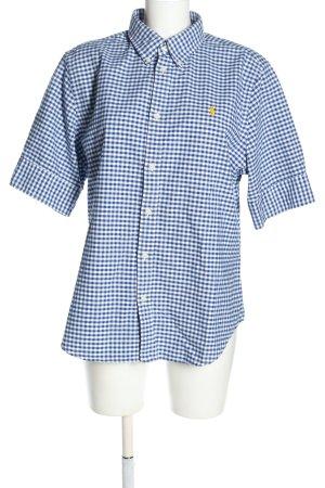 Ralph Lauren Camicia a maniche corte blu-bianco motivo a quadri stile casual