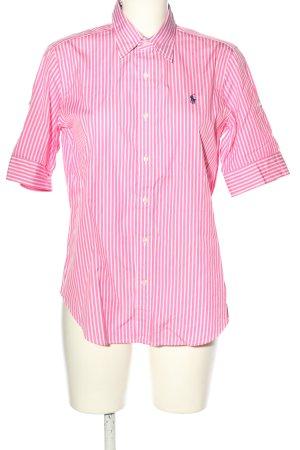 Ralph Lauren Kurzarmhemd pink-weiß Streifenmuster Casual-Look