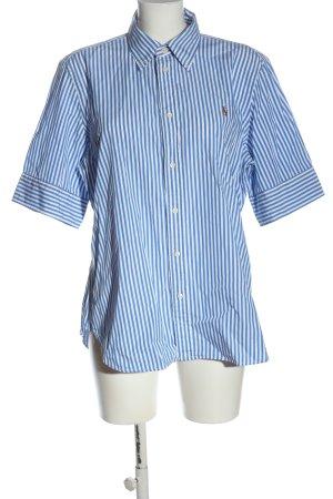 Ralph Lauren Shirt met korte mouwen blauw-wit gestreept patroon