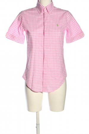 Ralph Lauren Kurzarmhemd pink-weiß Allover-Druck Business-Look