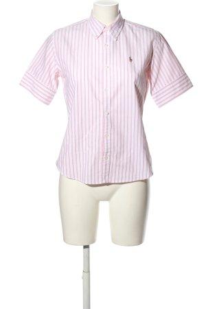 Ralph Lauren Kurzarmhemd weiß-pink Streifenmuster Business-Look