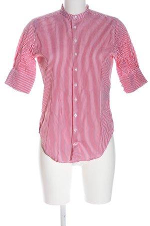 Ralph Lauren Kurzarmhemd rot-weiß Streifenmuster Casual-Look
