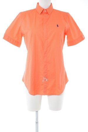 Ralph Lauren Kurzarmhemd hellorange schlichter Stil