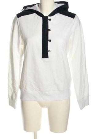 Ralph Lauren Capuchon sweater wit-zwart casual uitstraling