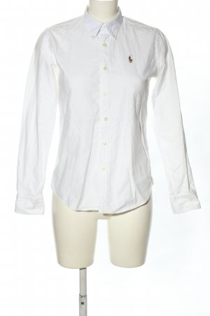 Ralph Lauren Langarm-Bluse weiß Business-Look
