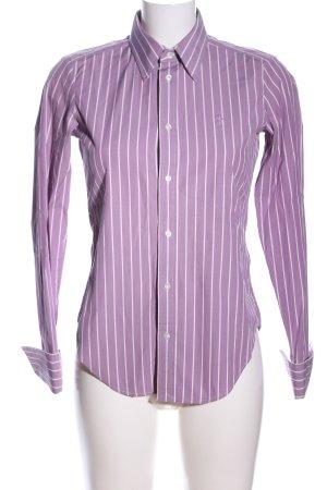 Ralph Lauren Blouse à manches longues violet-blanc imprimé allover