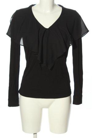 Ralph Lauren Langarm-Bluse schwarz Casual-Look