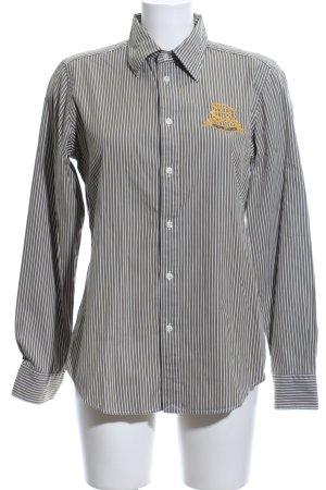 Ralph Lauren Langarm-Bluse khaki-weiß Streifenmuster Casual-Look