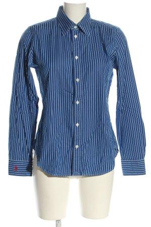 Ralph Lauren Langarm-Bluse blau-weiß Allover-Druck Casual-Look