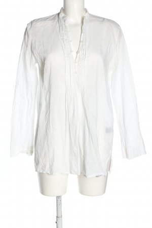 Ralph Lauren Langarm-Bluse weiß Casual-Look