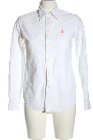 Ralph Lauren Camisa de manga larga blanco estilo «business»