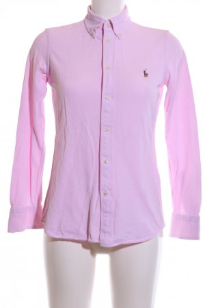 Ralph Lauren Langarmhemd pink Webmuster Casual-Look