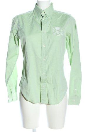 Ralph Lauren Chemise à manches longues vert imprimé avec thème