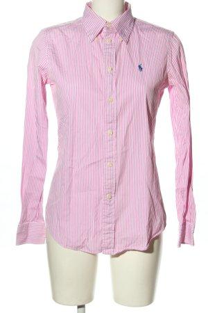 Ralph Lauren Langarmhemd pink-weiß Allover-Druck Business-Look