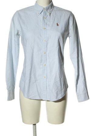 Ralph Lauren Langarmhemd weiß-blau Streifenmuster Casual-Look