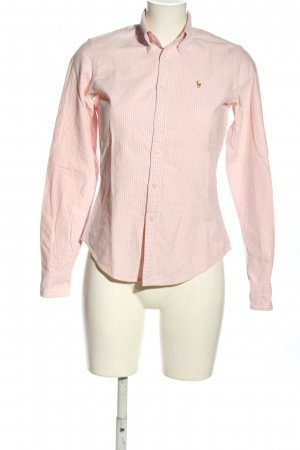 Ralph Lauren Langarmhemd pink-weiß Allover-Druck Casual-Look