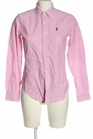 Ralph Lauren Langarmhemd pink-weiß Karomuster Business-Look