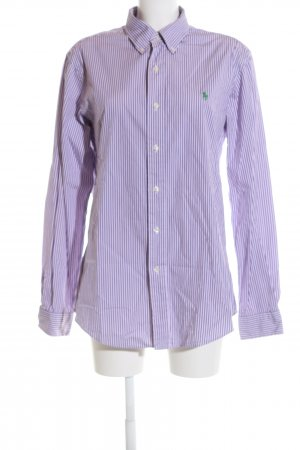 Ralph Lauren Langarmhemd lila-weiß Streifenmuster Business-Look