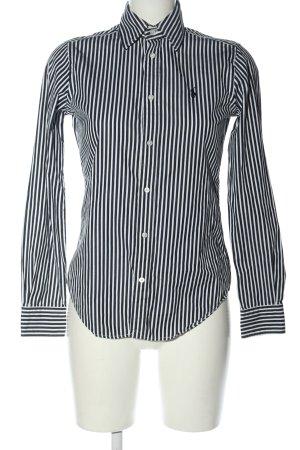 Ralph Lauren Langarmhemd schwarz-weiß Streifenmuster Casual-Look