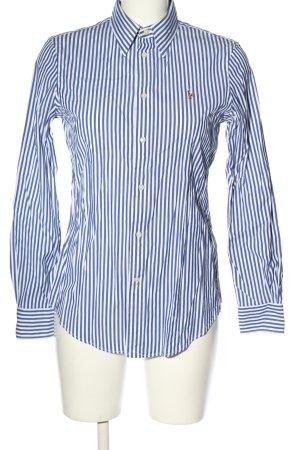 Ralph Lauren Langarmhemd blau-weiß Allover-Druck Business-Look