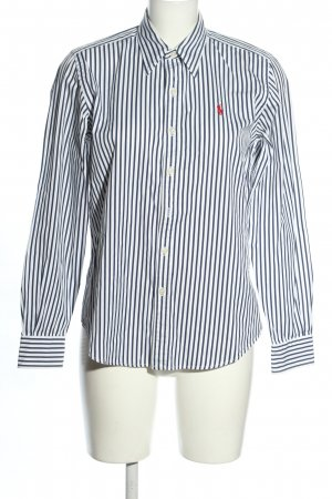Ralph Lauren Langarmhemd blau-weiß Streifenmuster Casual-Look