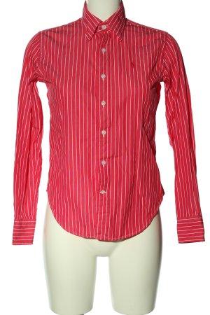 Ralph Lauren Langarmhemd rot-weiß Allover-Druck Casual-Look