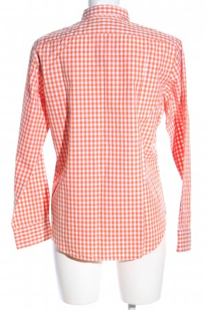 Ralph Lauren Camisa de manga larga blanco-naranja claro estampado a cuadros
