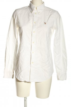 Ralph Lauren Camicia a maniche lunghe bianco caratteri ricamati
