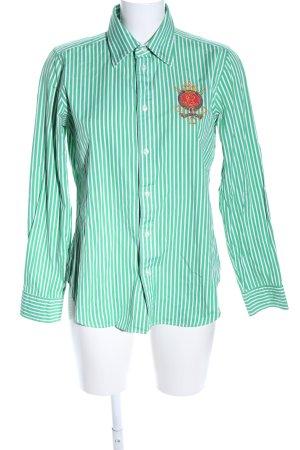 Ralph Lauren Camicia a maniche lunghe turchese-bianco Stampa a tema