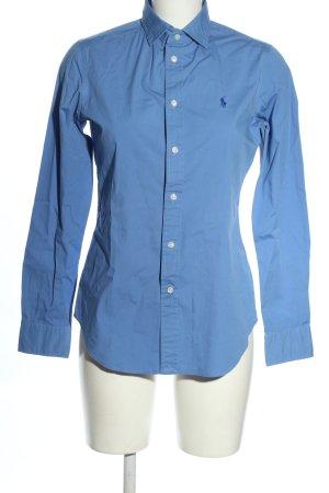 Ralph Lauren Langarmhemd blau Schriftzug gestickt Business-Look