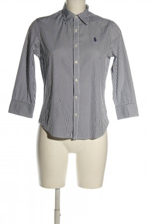 Ralph Lauren Langarmhemd schwarz-weiß Schriftzug gestickt Casual-Look